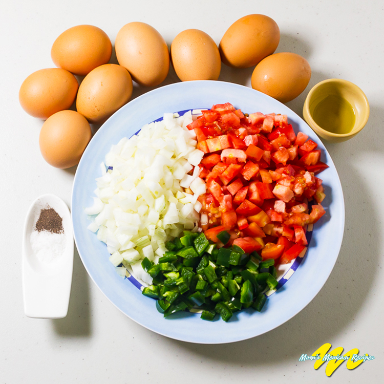 Huevos a la mexicana Ingredients