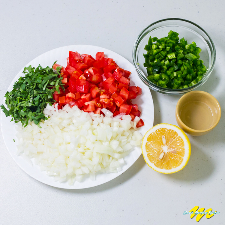 Pico De Gallo Ingredients 2