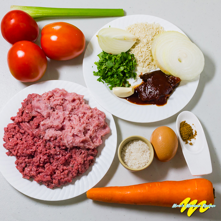 Albondigas Ingredients