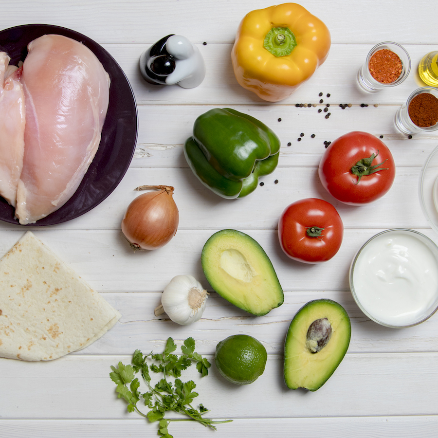 Chicken Avocado Quesadillas Ingredients