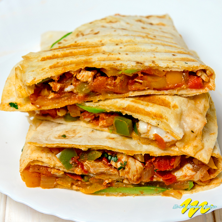 Chicken Avocado Quesadillas Recipe - Mom's Mexican Recipes