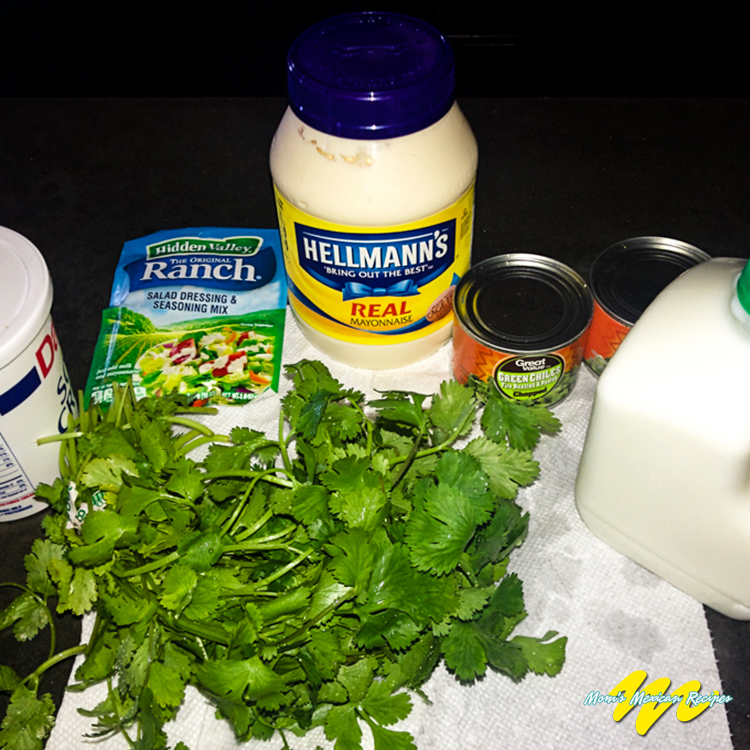 Chuy's Creamy Jalapeno Dip Recipe Ingredients