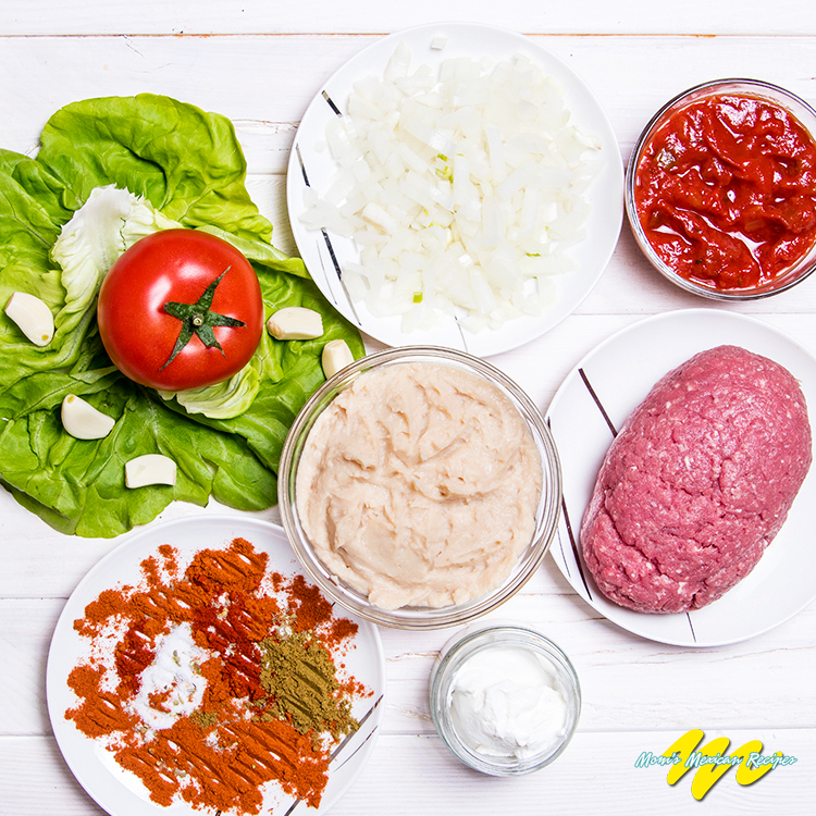 Beef Bean and Cheese Burritos Ingredients