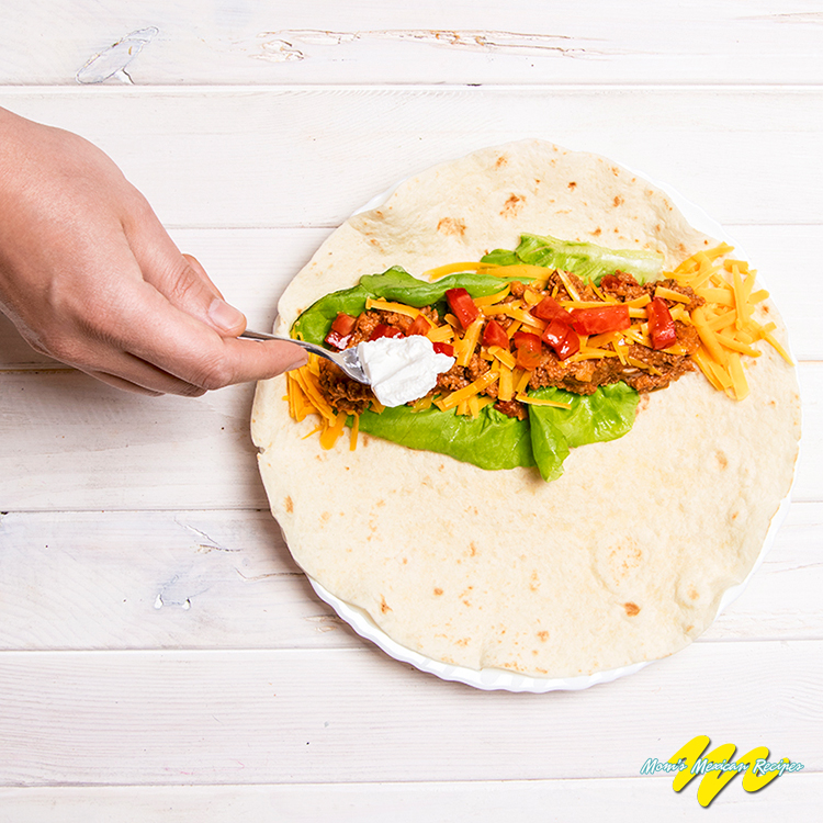 Beef Bean and Cheese Burritos Recipe Wrapping