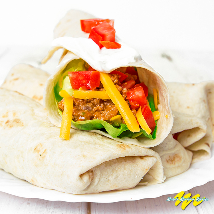 Beef Bean and Cheese Burritos Recipe - Mom's Mexican Recipes