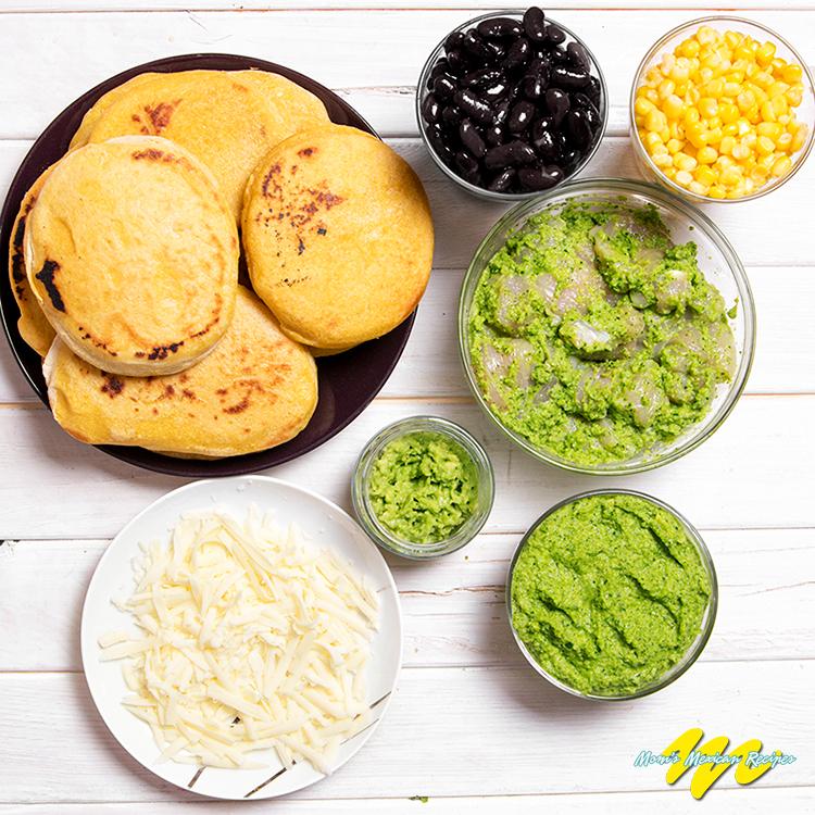 Chicken Avocado Arepas Ingredients