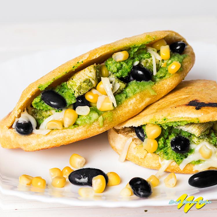 Chicken Avocado Arepas Recipe