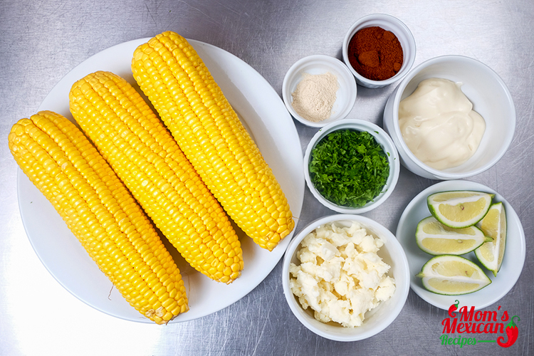Elote Recipe Mexican Sweet Corn Ingredients