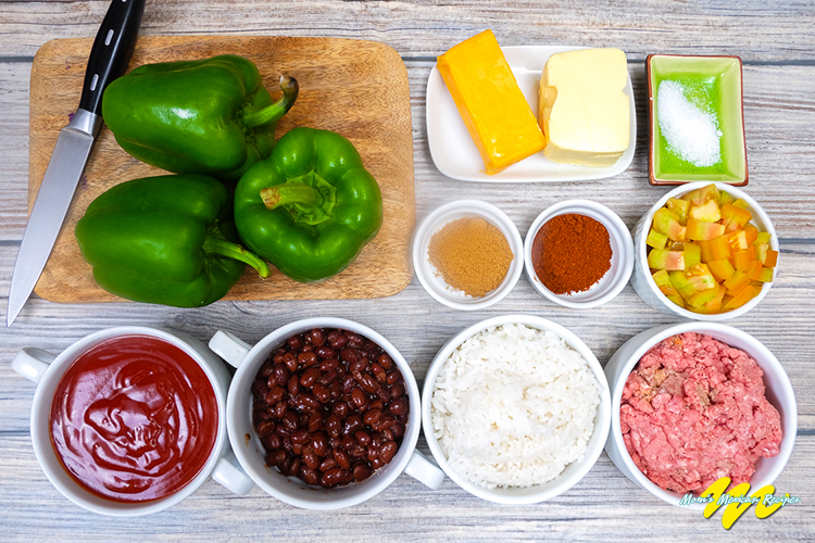 Mexican Stuffed Bell Peppers Ingredients