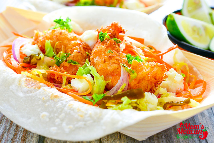 Baja Fried Shrimp Tacos