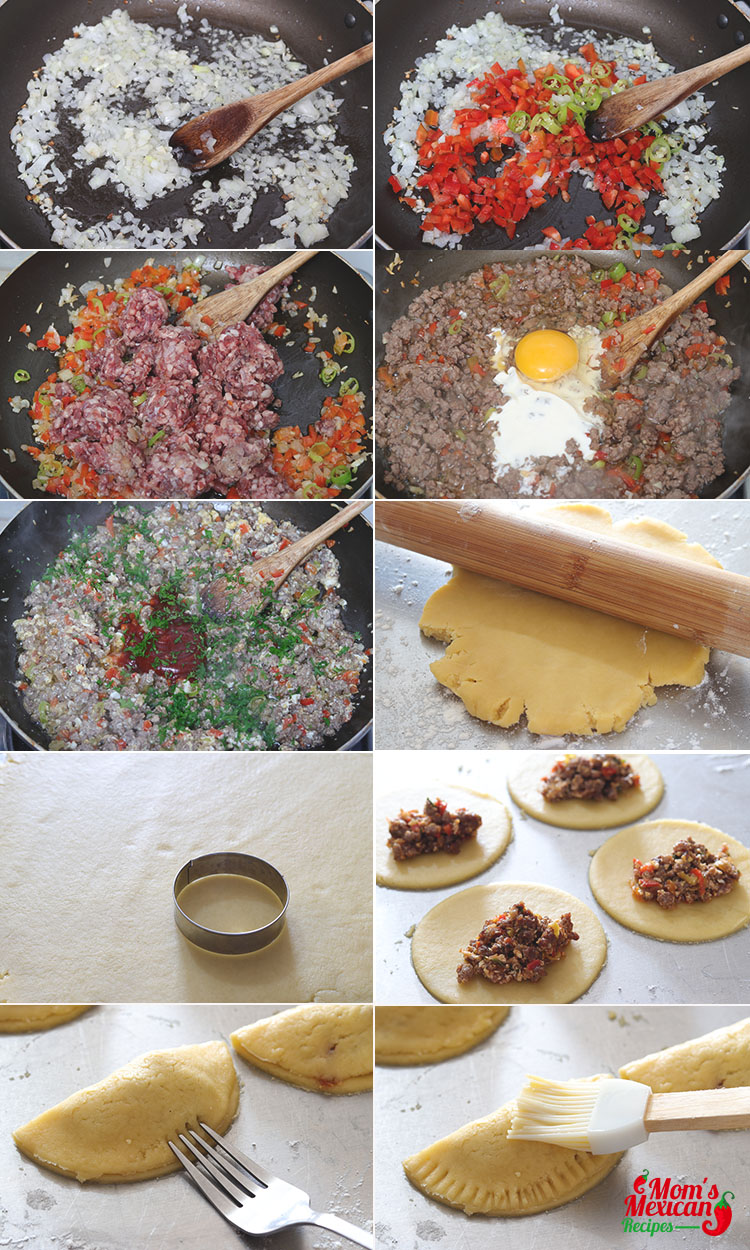 Mexican Beef Empanada Preparation 1