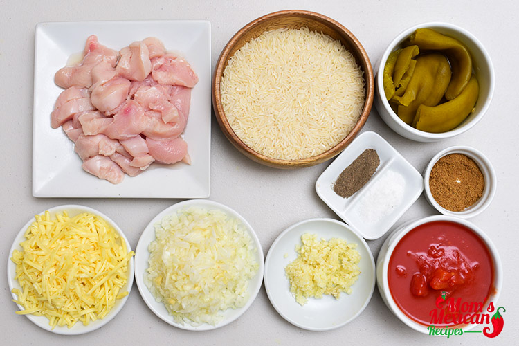 Mexican Chicken Rice Ingredients