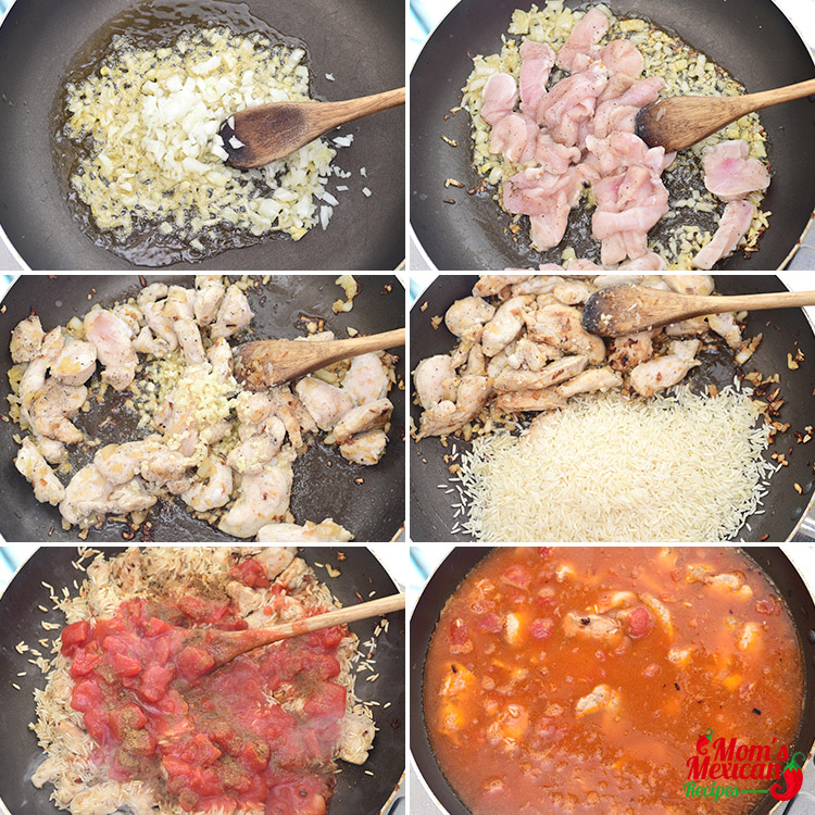 Mexican Chicken Rice Preparation