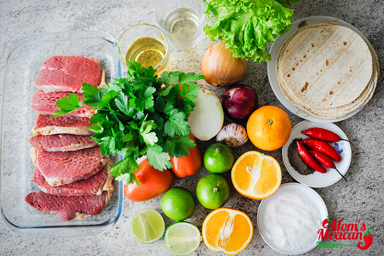 Tacos Carne Asada Ingredients
