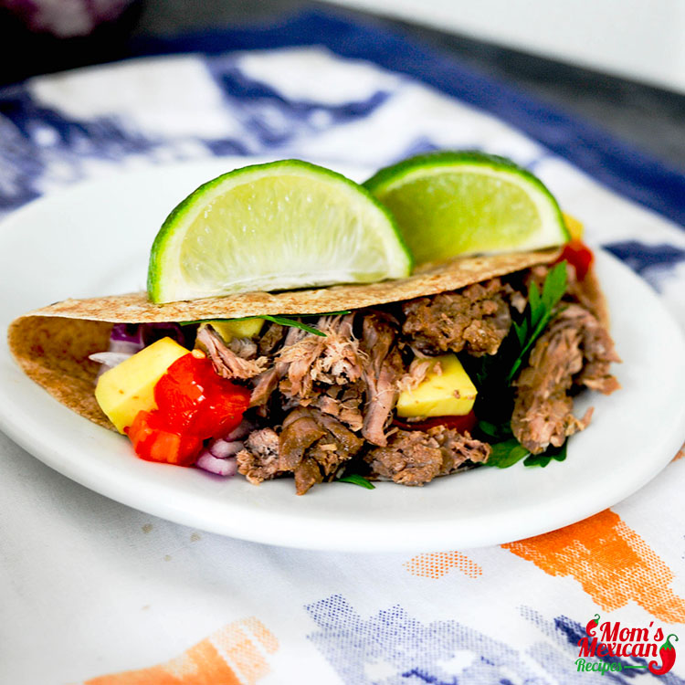 Slow Cooker Carne Asada Street Tacos Final