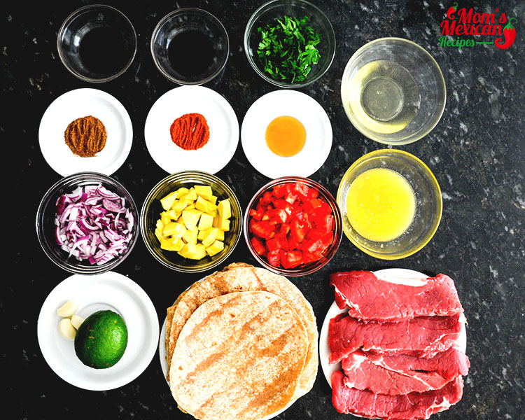 Slow Cooker Carne Asada Street Tacos Ingredients