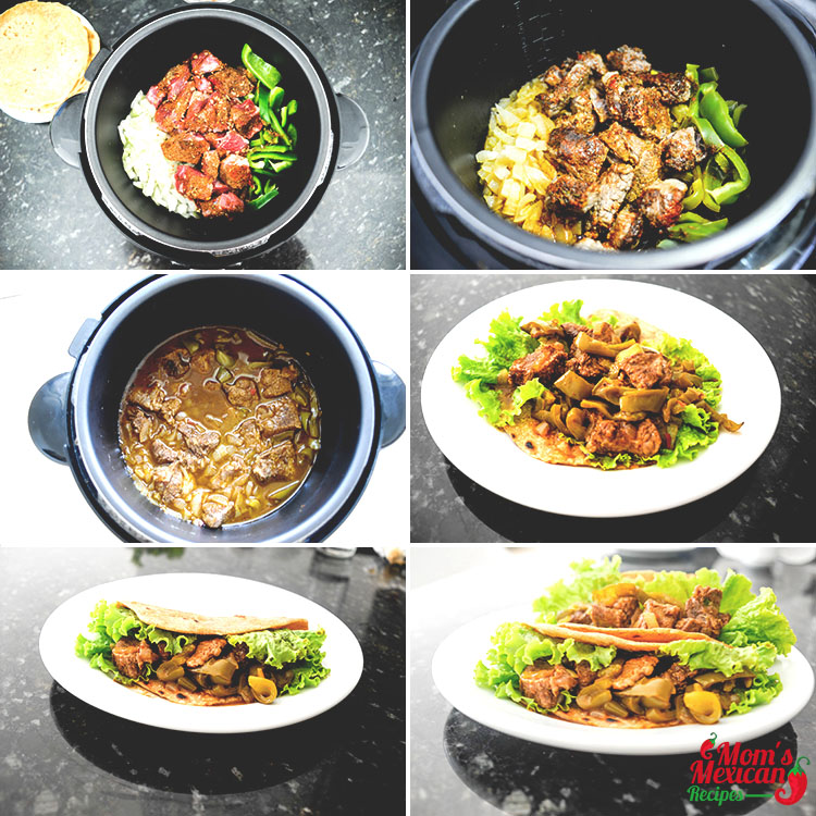 Slow Cooker Steak Fajitas Cooking Preparation