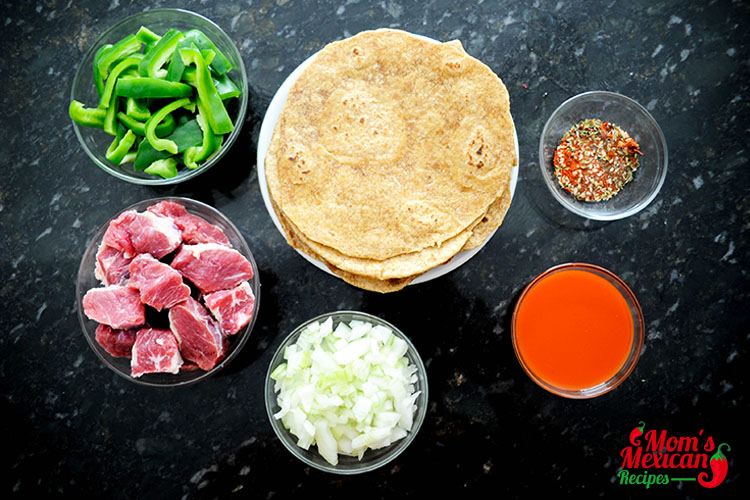 Slow Cooker Steak Fajitas Ingredients