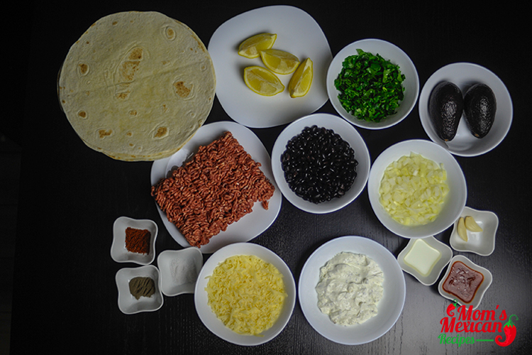 Beef Quesadillas Ingredients