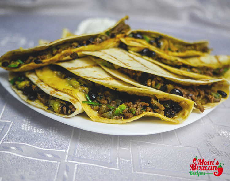 Beef Quesadillas Serving